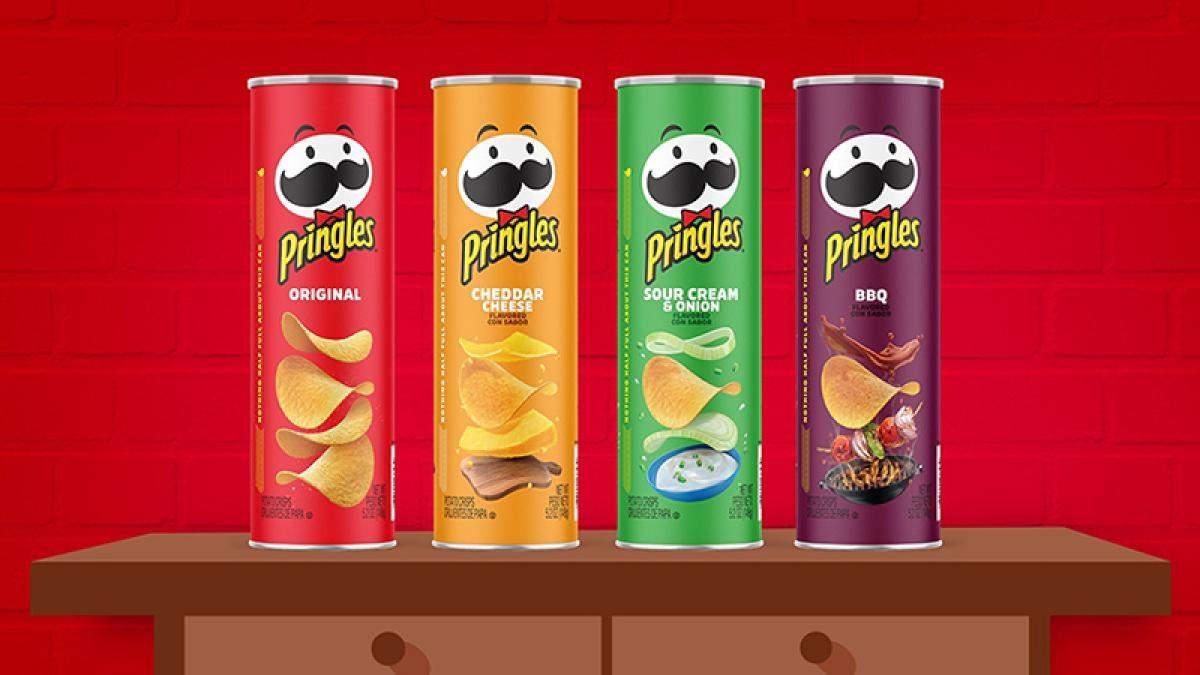 Новий дизайн чипсів Pringles