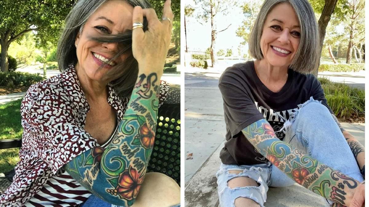 Седые волосы и тату: женщина в 56 сломала стереотипы и стала звездой Tik-Tok и Instagram – фото