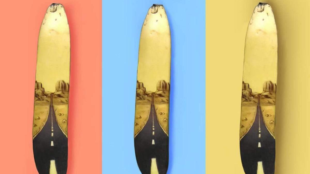 Космос, квіти і Гомер: дівчина створює дивовижні малюнки на звичайних бананах