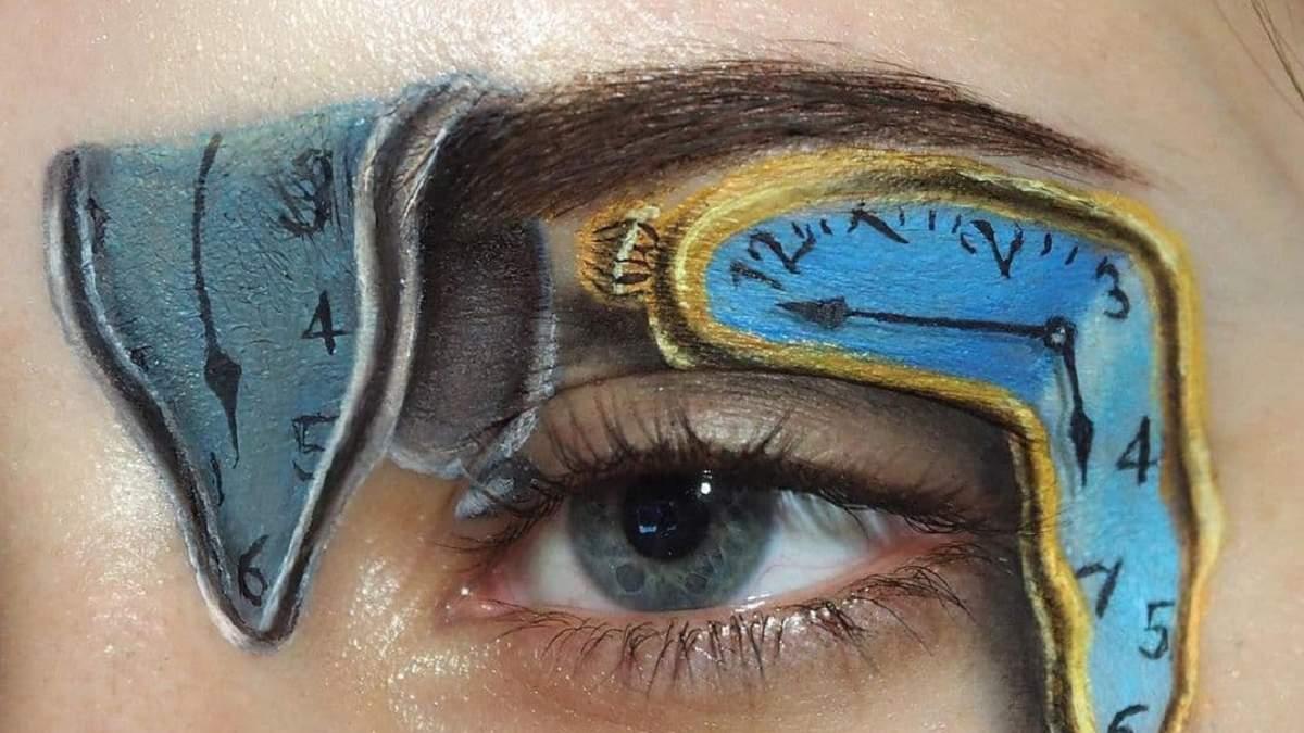 Мейкап у вигляді картин Далі та Матісса: дівчина створює фантастичний макіяж - фото