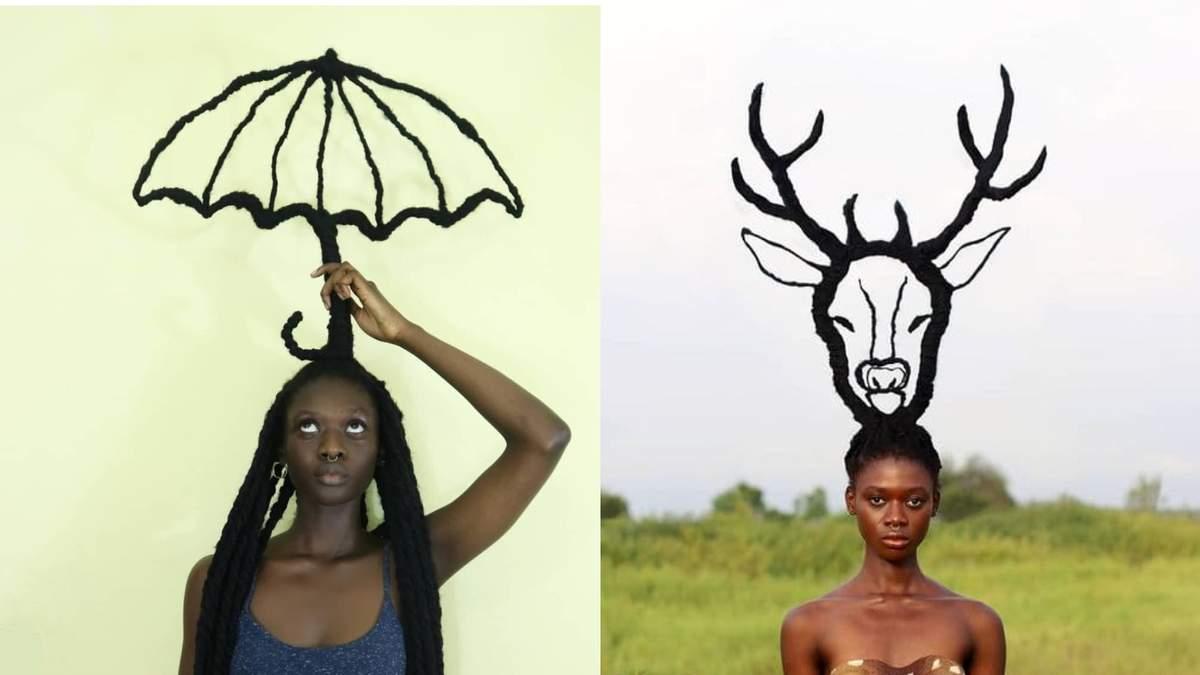 Волохаті скульптури: дівчина робить дивовижні фігури з власного волосся - фото