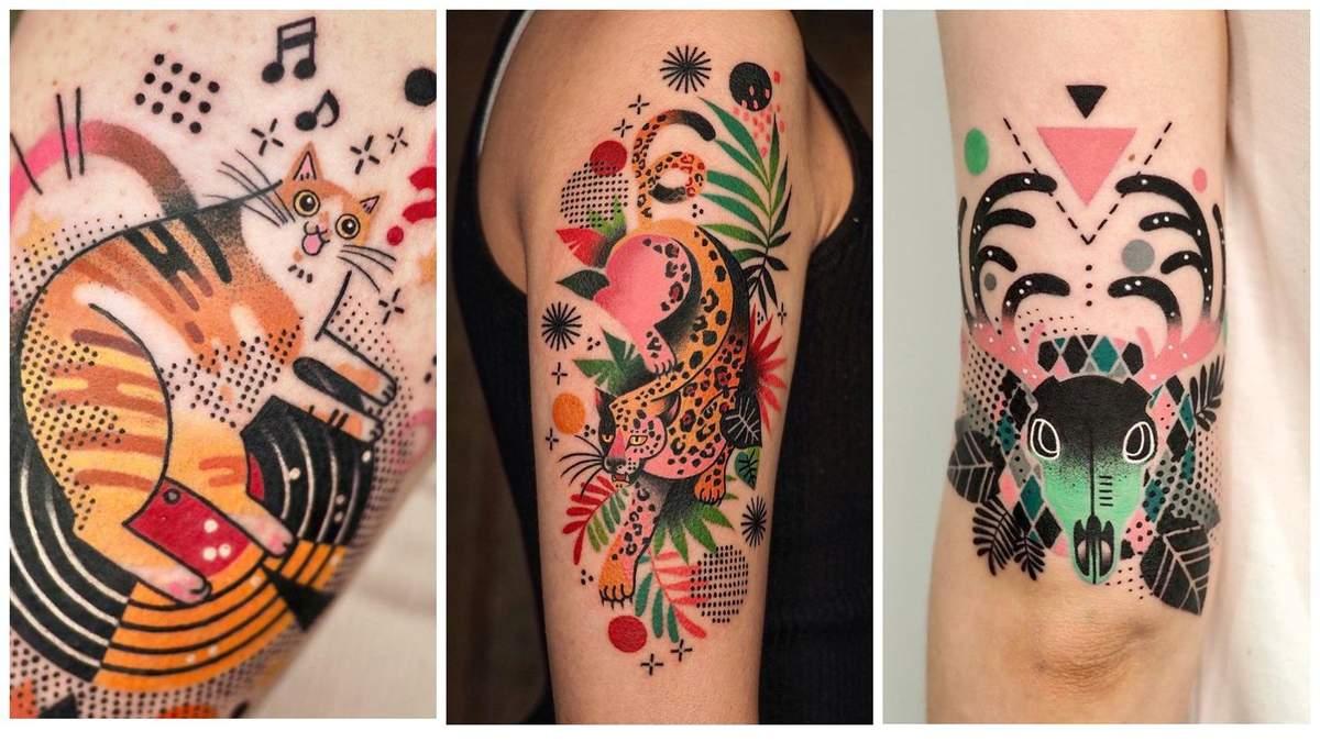 Словно герои комиксов: радужные татуировки корейской художницы