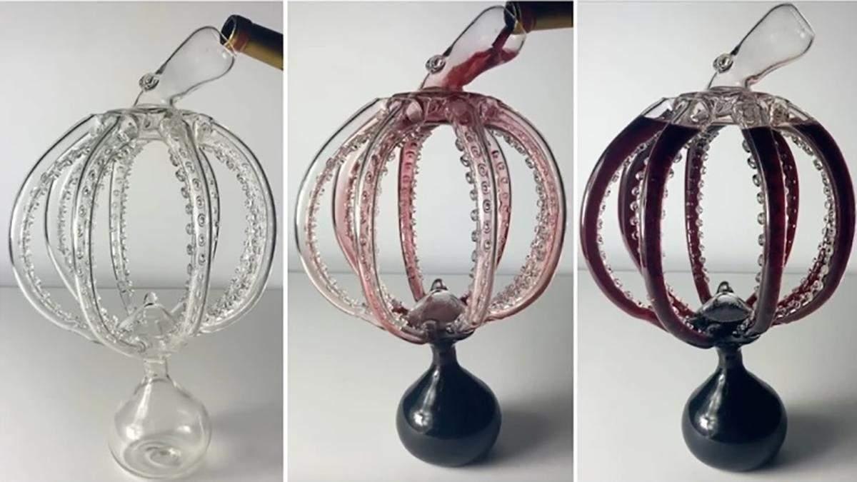 Неймовірний графин для вина у формі восьминога