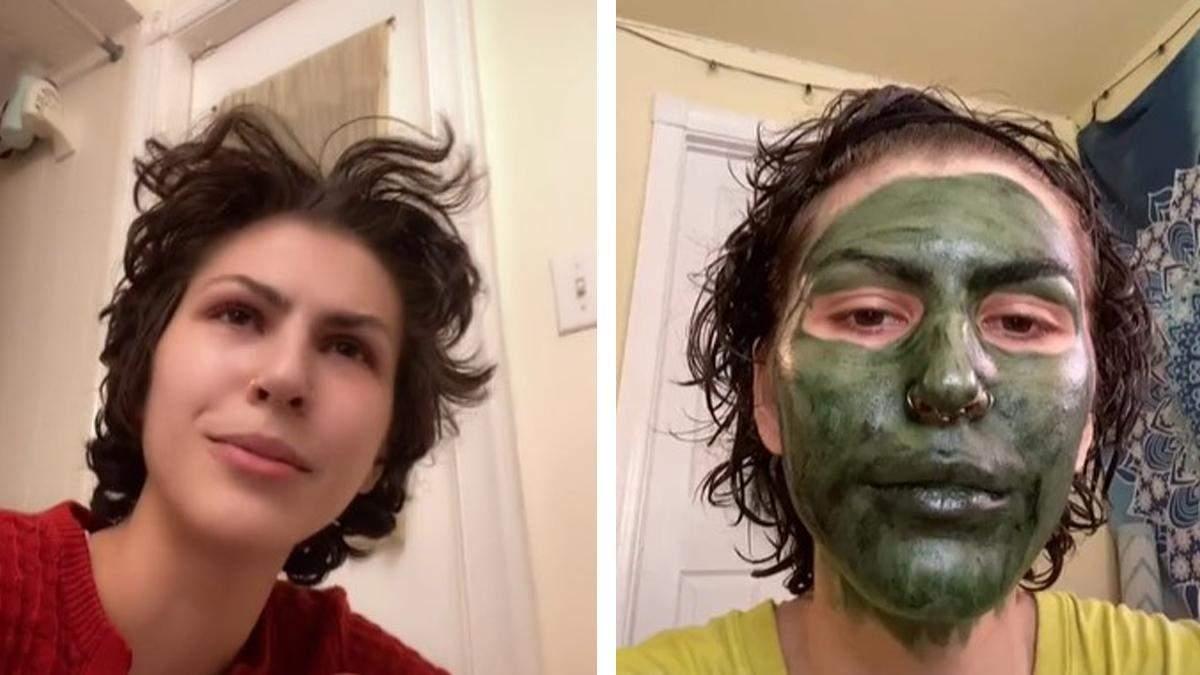 Девушка позеленела из-за маски для лица:она готовилась к собеседованию