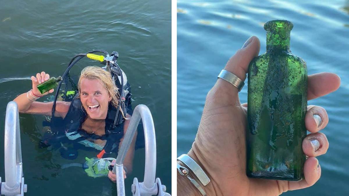 Женщина нашла древнее послание: оно лежало на дне озера почти 100 лет