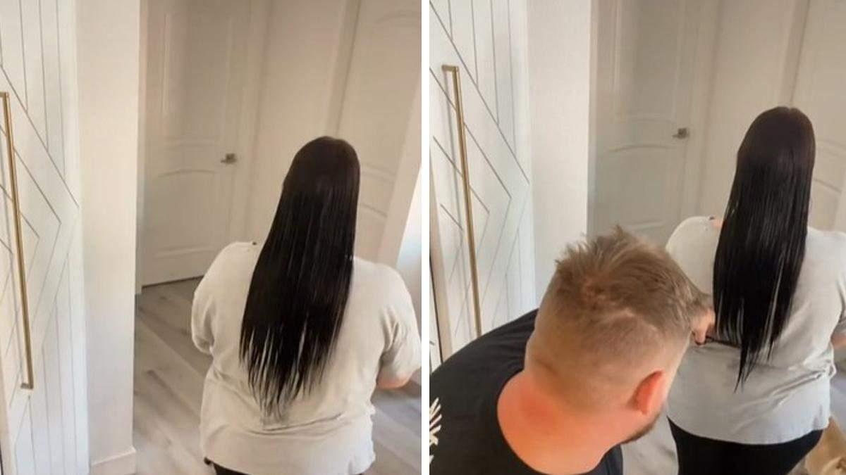Чоловік вчився робити зачіску дружині: його метод насмішив мільйони людей