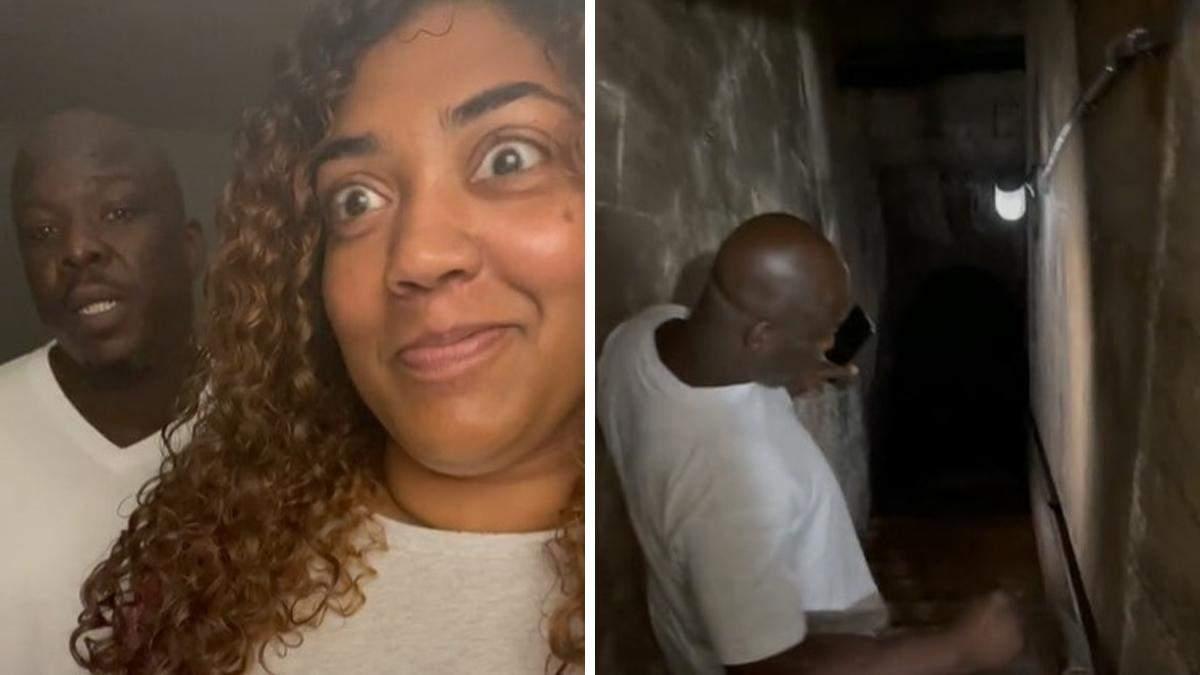 Американец показал тоннель в своем доме: ему около 150 лет