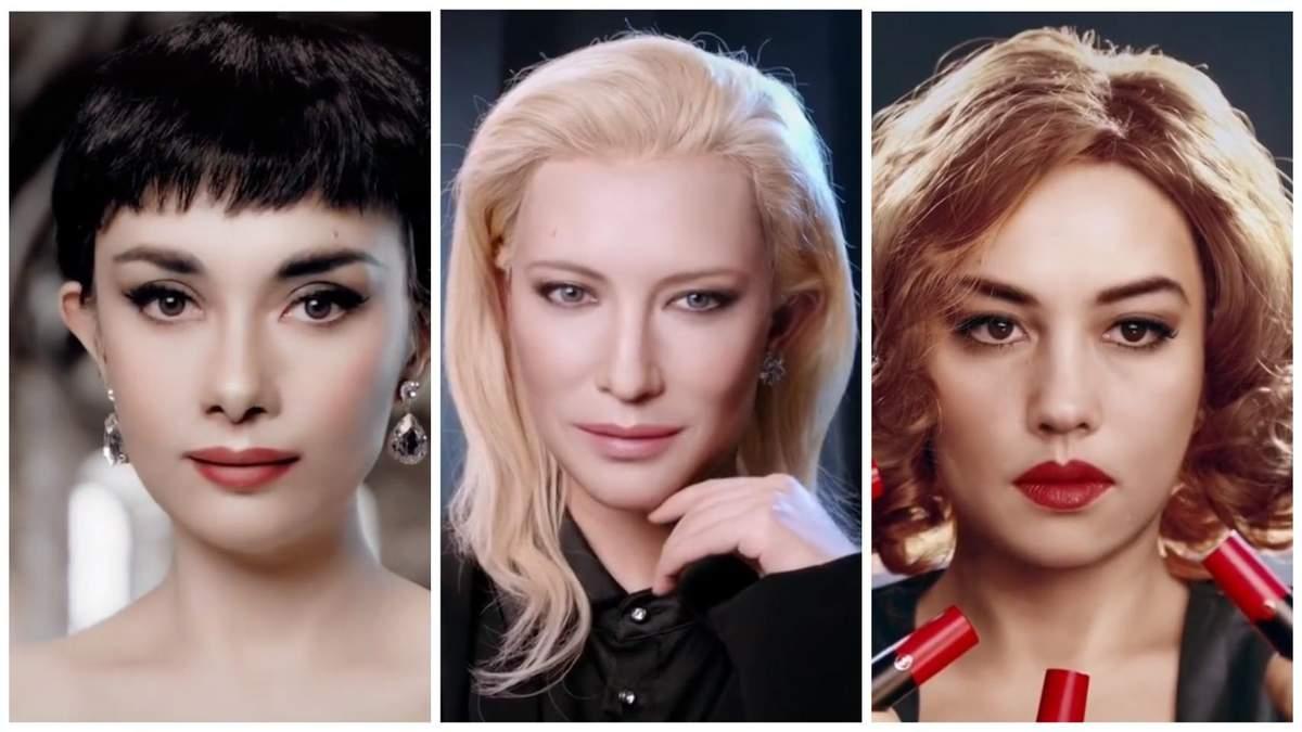 Блогерша превращается в мировых звезд с помощью макияжа