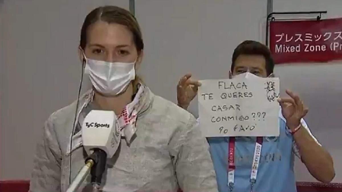 Тренер сделал предложение фехтовальщице на Олимпиаде