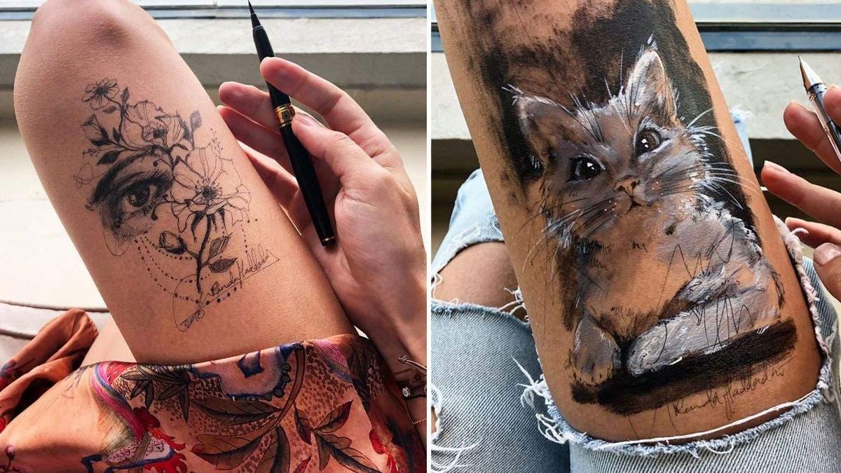 Яка краса: художниця створює дивовижні малюнки на власних ногах - Life