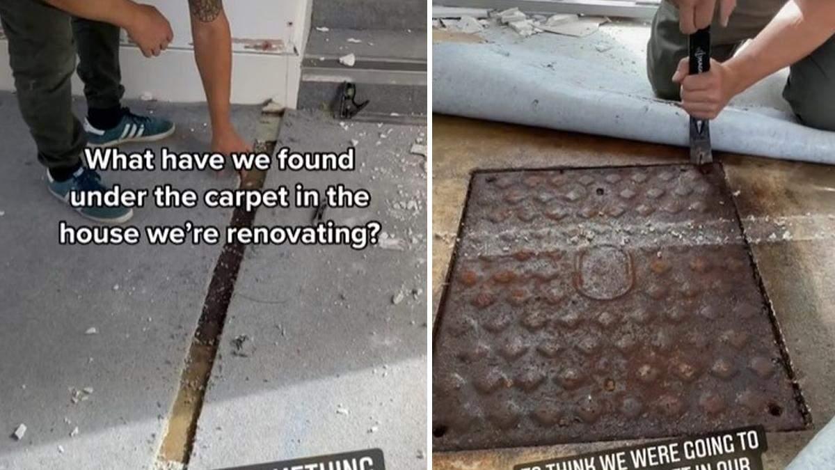 Пара знайшла дивний люк у своїй квартирі: краще б вони його не відкривали
