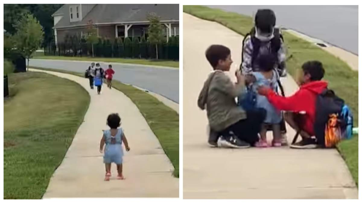 Маленька сестричка щодня зустрічає братів зі школи: відео розчулило мережу - Life