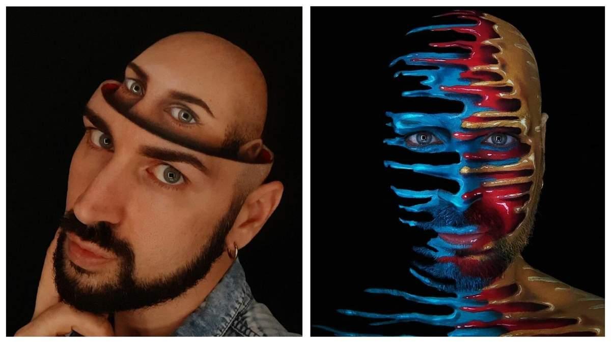 Тіло як полотно: італійський візажист створює дивовижні оптичні ілюзії на собі - Life