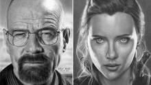 Художник рисует портреты звезд карандашом – их не отличишь от фотографии: невероятные фото
