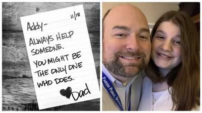 Хотів завжди бути поруч: тато написав доньці 690 надихаючих записок до школи