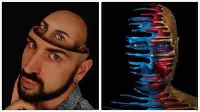Тіло як полотно: італійський візажист створює дивовижні оптичні ілюзії на собі