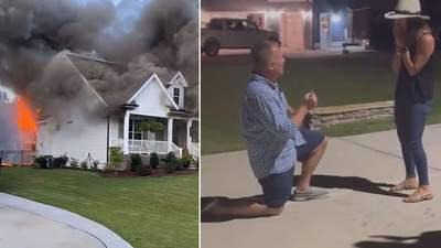 Знайшов обручку в руїнах: чоловік зробив коханій пропозицію біля їх згорілого будинку
