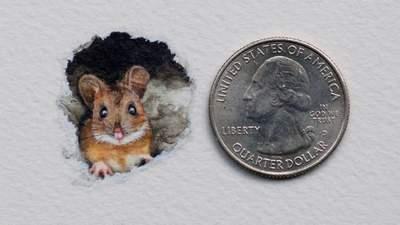 Розміром з монету: художниця створює дуже реалістичні мініатюрні малюнки –15 прикладів