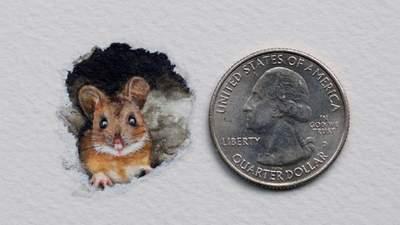 Размером с монету: художница создает реалистичные миниатюрные рисунки – 15 примеров