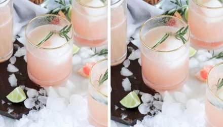 """Утонченная классика: новогодний коктейль """"физ"""" с розовым джином и игристым вином"""