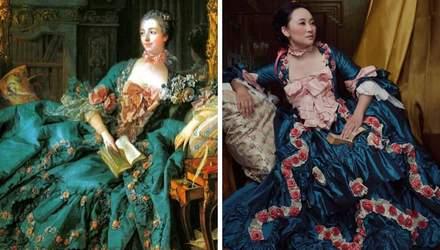 Яка краса: лікарка шиє унікальні плаття, які одягали жінки 300 років тому