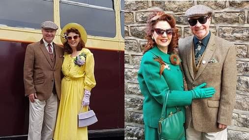 Пара не покупала новую одежду 6 лет: они создают образы в стиле 40-х годов – фото