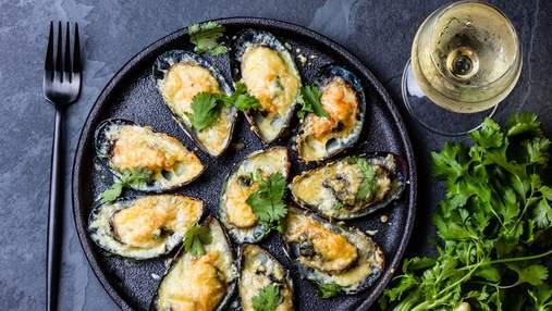 Ужин с вином: SHABO Reserve Chardonnay и мидии в сливочном соусе