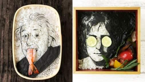 """Навіть шкода їсти: художниця """"малює"""" стильні їстівні портрети – фото"""