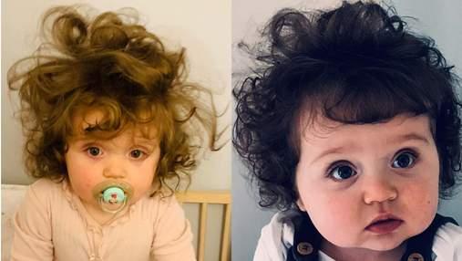 Годовалая девочка поразила сеть роскошными волосами – фото