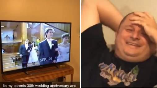 Пара смотрела свадебное видео: выходка мужа покорила миллионы людей