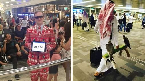 10 чудаков, которые насмешили людей в аэропортах: забавные фото
