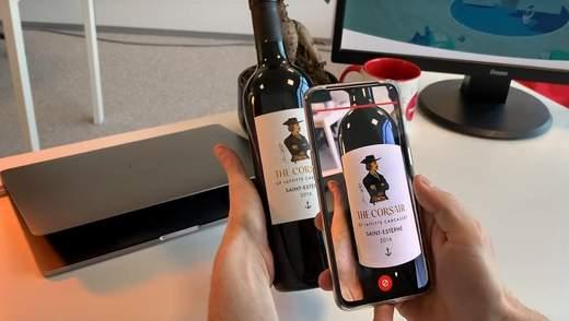 Вперше в Бордо: вино з доповненою реальністю на етикетці